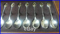 RSPB solid silver spoon collection, 325g approx, free p & p