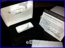 Rare 5 Silver Ingots Pure Solid Collectors Edition Bullion Bars Mint Condition