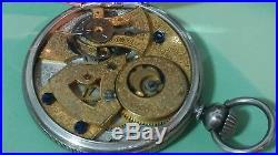Rare Antique Quig Dynasty era, Duplex pocket watch, solid silver case