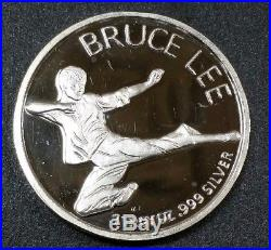 Rare Bruce Lee Silver Round 1970's Solid Pure Silver 1 oz 999.999 Limited Coin