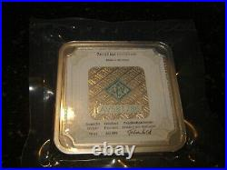 Rare Geiger Edelmetalle Security Series 10 oz Square Silver Bar. 999 Mint Sealed