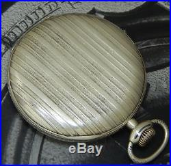 Rare Vintage 1926 Solid Silver IWC Cal. 65 H5 Art Deco Pocket Watch Beautiful