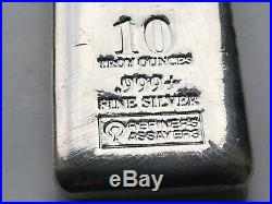 Rmc 10 Oz. 999 Solid Silver Pour Loaf Bar