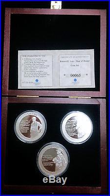 Robert E. Lee Man of Honor 1 oz. Solid Silver Commemorative Coin Set