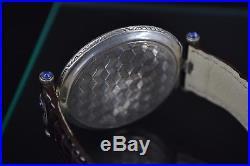Rolex 1920 men's wristwatch solid silver art deco mint fancy guilloche dial