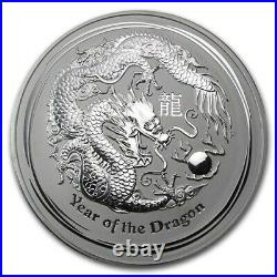 Roll If 20-2012 Lunar Dragon Silver 50 Cent Coin 1/2 ounce 999 solid silver coin