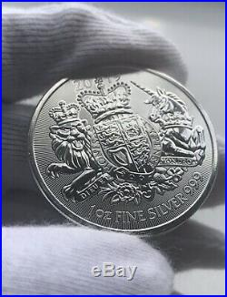 Royal Mint Coat Of Arms 1oz 999 Solid Silver Bullion Coins X 10 Lot A