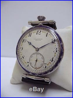 Solid Silver 0,800 Nielo Case Zenith Oversized Slim Wristwtach, No Reserved