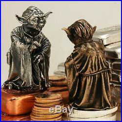 SOLID Sterling Silver OR Real Bronze YODA Star Wars Statue Statuette