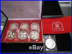 Scarce Set Official NFL Super Bowl Solid Silver Medals In Original Case