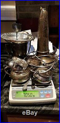Scrap Sterling Silver Lot 705 Grams NONE Weighted. All SOLID Sterling