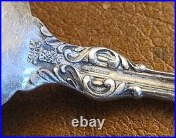Set Of 12 Whiting Lily Sterling Silver Rare Bullion Spoons