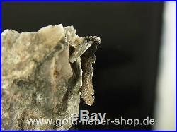 Silberstufe from Canada Covered Silver on Quartz Silver Leaf Nugget Solid 106