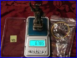 Silver 925 solid Statue of Liberty 7oz figure art paperweight Bullion Exchanges