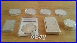 Silver ingots and silver coins pure. 999 solid silver 23oz