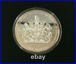 Simply Coins 2015 TRISTAN DA CUNHA SOLID SILVER PROOF 5 OUNCE 5 OZ COIN