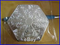 Snowflake Hexagon 10 oz. 999 Fine Solid Silver Bar Ingot