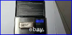 Solid. 925 Sterling Silver Custom Hand Poured Bar 209 Grams