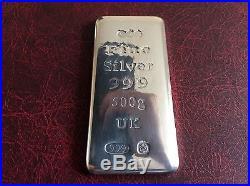 Solid Silver 500 Grams Ingot