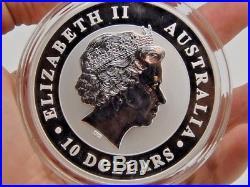 Solid Silver Australian Kookaburra coin 2016 999 Silver 10oz 10 Dollars LARGE