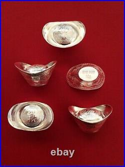 Solid Silver Bullion Ingots. 999 Fine Silver