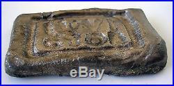 Solid Silver Ingot With Roman Seal Ivlivs Victor, Lingote Plata Sello Romano