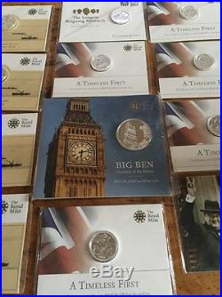 Solid Silver Uk £20 Coin Lot