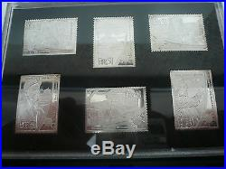 Solid Sterling Silver Millenium Stamps Proof Collection 2000 Hibernia Mint