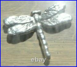 Solid silver hand cast Dragonfly, 340g, unique, free Special delivery
