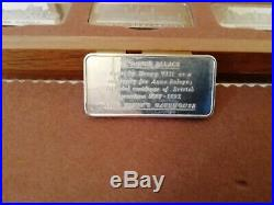 Solid silver ingots (engraved with Royal Palaces) limited issue