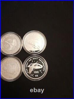 Star Trek The Next Generation Solid Silver Proof 6 Coin Set Pobjoy Mint Ships