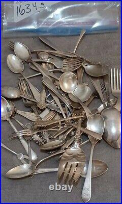 Sterling Silver Bullion Scrap Lot Antique Flatware Solid 925 Silver 1634g