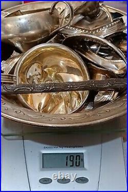 Sterling Silver Bullion Scrap Lot Antique flatware Solid 925 Silver 1638g