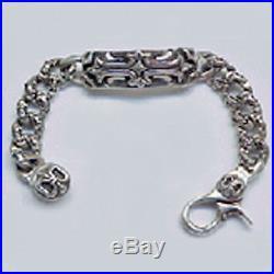 Sterling Silver Solid Bracelet Brand A&G Rock FDL LOBSTER Design 925 Made in USA