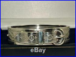 Stunning 1887 Victorian Solid Sterling Silver Buckle Bangle Bracelet Chester