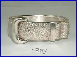 Stunning Victorian Solid Sterling Silver Buckle Bangle Bracelet Circa 1880
