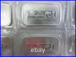 TEN New SilverTowne 1oz Solid Silver Bullion Bars 999 Sealed x Atkinsons