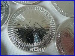 TEN x Silver Kangaroo 1 ounce solid 9999 Silver Bullion Coins 10 troy ounce 2019