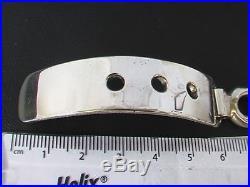 Taxco Mexican Solid 925 Sterling Silver Adjustable Belt Bracelet. 96g, 8- 9