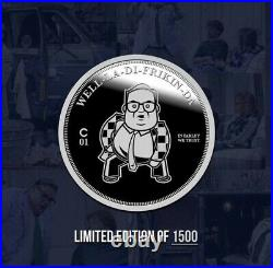 The CHIVE Chris Farley, Down By The River Solid Silver 1 OZ COIN SOLD OUT