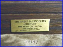 The Great Sailing Ships of History Solid Sterling Silver Ingots Complete