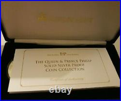 The Queen and Prince Philip Solid Silver Proof Coin Collection