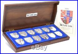 The Royal Arms of United Kingdom 12 Solid Silver Sterling Ingots BOX + COA