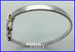 Tiffany & Co. Solid Sterling Silver 18k Solid Yellow Gold Two Tone Bangle