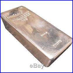 UMICORE 5kg 5,000 gram. 999 Solid Silver Bar Bullion Investment VERY RARE
