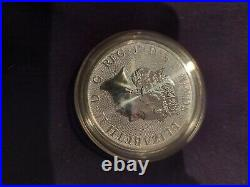 Uk Queens Silver Beast 2 Ounce Solid Silver Coin