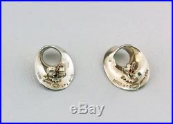 VINTAGE GEORG JENSEN SOLID SILVER EARRINGS No 142 Designed byTORUN