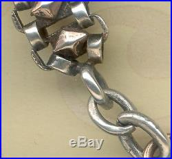 VINTAGE LARGE FRENCH SOLID SILVER POCKET WATCH CHAIN SEAL 2 Boar's Head