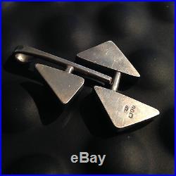 Vintage Solid Silver Geometric Abstract Fashionist Art Jewel Pendant