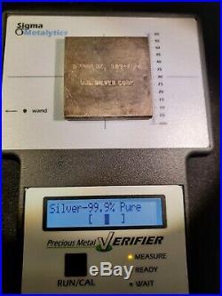 VINTAGE U. S. Silver Corp Square. 5 OZ. 999 FINE SILVER BAR
